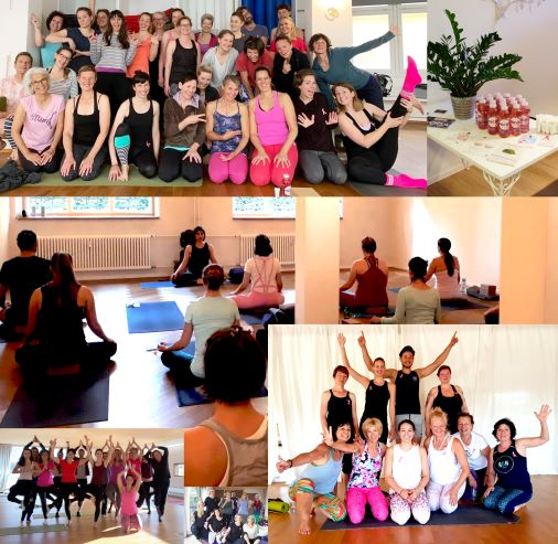 Collage Pink Yoga Sessions